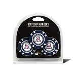 Arizona Wildcats Golf 3 Pack Poker Chip