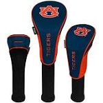 Auburn Tigers Nylon Graphite Golf Set of 3 Head Covers