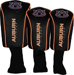 Auburn Tigers Mesh Golf Set of 3 Head Covers