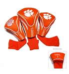 Clemson Tigers Golf Contour 3 pack Head Covers