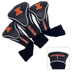 Illinois Fighting Illini Golf Contour 3 pack Head Covers