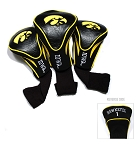 Iowa Hawkeyes Golf Contour 3 pack Head Covers