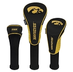 Iowa Hawkeyes Nylon Graphite Golf Set of 3 Head Covers