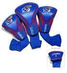 Kansas Jayhawks Golf Contour 3 pack Head Covers