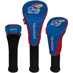 Kansas Jayhawks Nylon Graphite Golf Set of 3 Head Covers