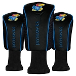 Kansas Jayhawks Mesh Golf Set of 3 Head Covers