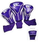 Kansas State Wildcats Golf Contour 3 pack Head Covers
