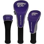 Kansas State Wildcats Nylon Graphite Golf Set of 3 Head Covers
