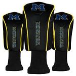 Michigan Wolverines Mesh Golf Set of 3 Head Covers