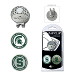 Michigan State Spartans 2 Marker Golf Hat Clip