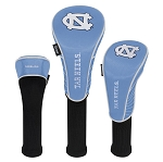 North Carolina Tar Heels Nylon Graphite Golf Set of 3 Head Covers