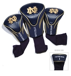 Notre Dame Fighting Irish Golf Contour 3 pack Head Covers