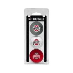 Ohio State Buckeyes Golf Ball Clamshell