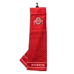 Ohio State Buckeyes Embroidered Golf Towel