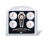 Texas Longhorns 4 Ball Divot Tool Golf Gift Set