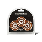 Texas Longhorns Golf 3 Pack Poker Chip