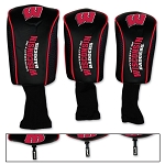 Wisconsin Badgers Mesh Golf Set of 3 Head Covers