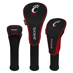 Cincinnati Bearcats Nylon Graphite Golf Set of 3 Head Covers