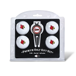 Louisville Cardinals 4 Ball Divot Tool Golf Gift Set