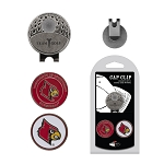 Louisville Cardinals 2 Marker Golf Hat Clip