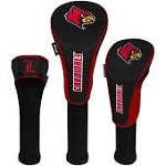 Louisville Cardinals Nylon Graphite Golf Set of 3 Head Covers