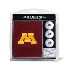 Minnesota Golden Gophers Embroidered Golf Gift Set