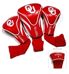 Oklahoma Sooners Golf Contour 3 pack Head Covers