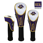 East Carolina Pirates Nylon Graphite Golf Set of 3 Head Covers