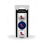 Mississippi Rebels Golf Ball Clamshell