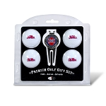 Mississippi Rebels 4 Ball Divot Tool Golf Gift Set