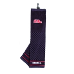 Mississippi Rebels Embroidered Golf Towel