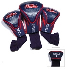 Mississippi Rebels Golf Contour 3 pack Head Covers