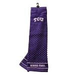 Texas Christian University Horned Frogs Embroidered Golf Towel