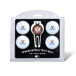Virginia Cavaliers 4 Ball Divot Tool Golf Gift Set