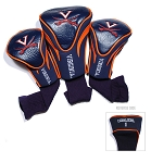 Virginia Cavaliers Golf Contour 3 pack Head Covers