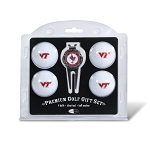 Virginia Tech Hokies 4 Ball Divot Tool Golf Gift Set