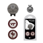 Virginia Tech Hokies 2 Marker Golf Hat Clip