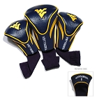 West Virginia Mountaineers Golf Contour 3 pack Head Covers