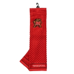 Maryland Terrapins Embroidered Golf Towel