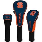 Syracuse Orange Nylon Graphite Golf Set of 3 Head Covers