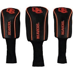 Oregon State Beavers Mesh Golf Set of 3 Head Covers