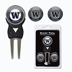 Washington Huskies Golf Divot Tool Set