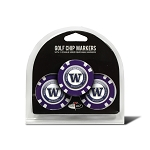 Washington Huskies Golf 3 Pack Poker Chip