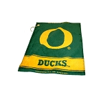 Oregon Ducks Woven Golf Towel