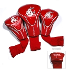 Washington State Cougars Golf Contour 3 pack Head Covers