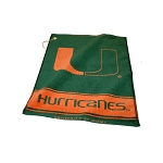 Miami Hurricanes Woven Golf Towel