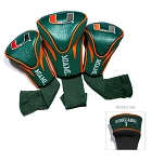 Miami Hurricanes Golf Contour 3 pack Head Covers