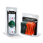 Miami Hurricanes Golf 3 Ball/50 Tee