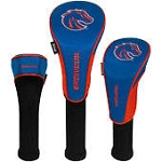 Boise State Broncos Nylon Graphite Golf Set of 3 Head Covers