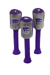 Kansas State Wildcats Set of 3 Graphite Head Covers
